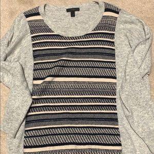 J.Crew gray striped sweater